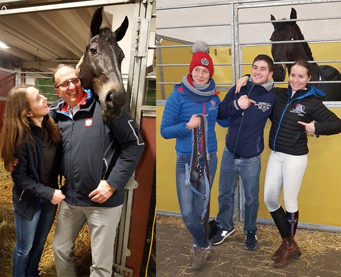 Beata z tatą i Rubim, zgrany team Nadzieja Hebda i Fernando Esteban Ruiz z Beatą