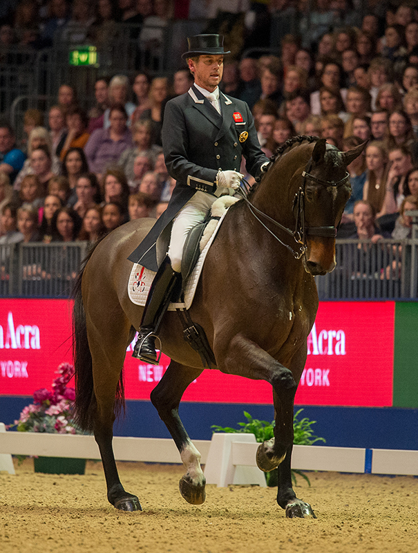Carl Hester (GBR) & Nip Tuck - Grand Prix Freestyle - Reem Acra FEI World Cup™ Dressage - London International Horse Show - Olympia, London, United Kingdom - 16 December 2015 Pic Jon Stroud