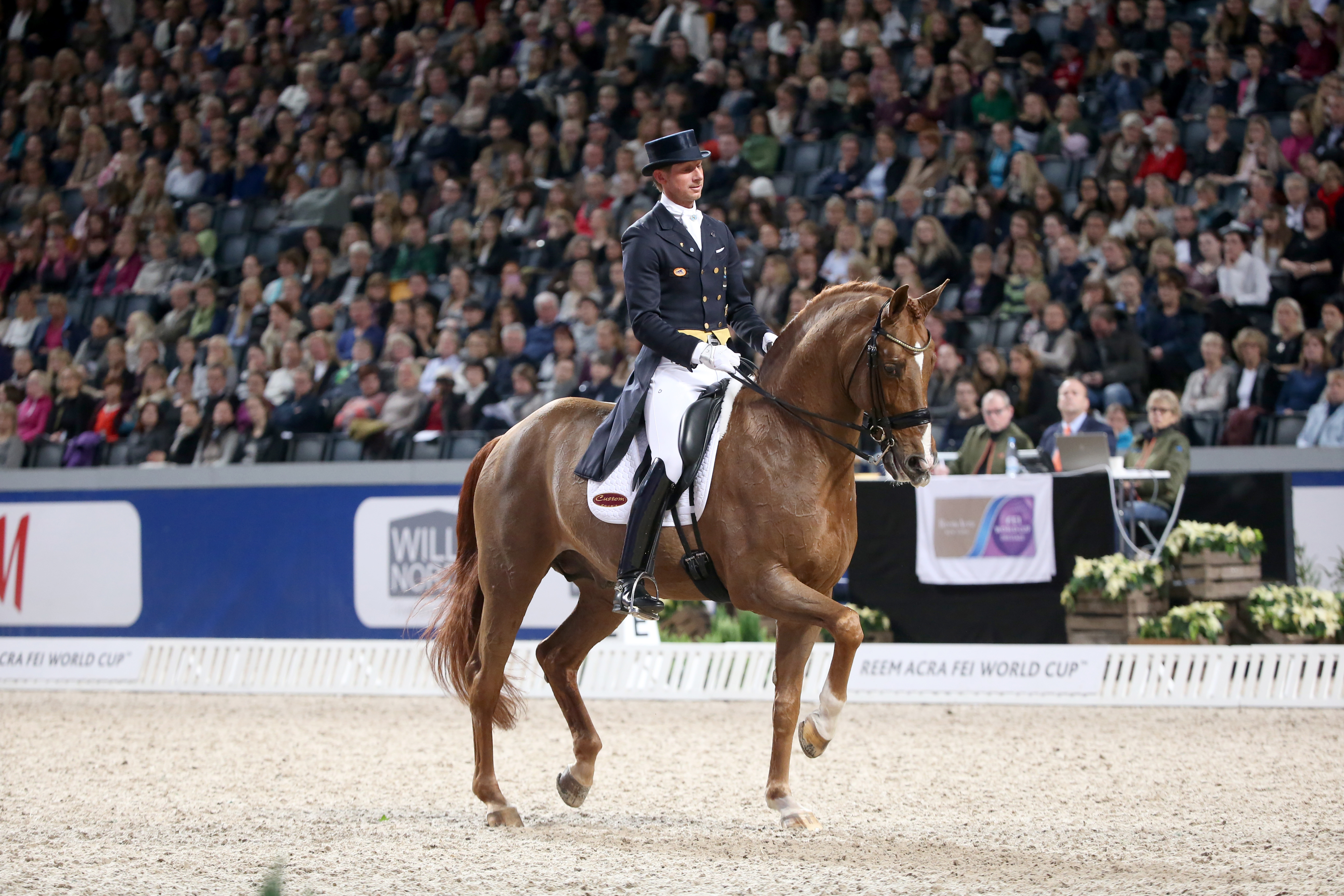 Friends Arena Patrik Kittel, SWE and Watermill Scandic were on 2:nd place in the Reem Acra FEI World Cup Dressage. Photo: Roland Thunholm Code: 718 35