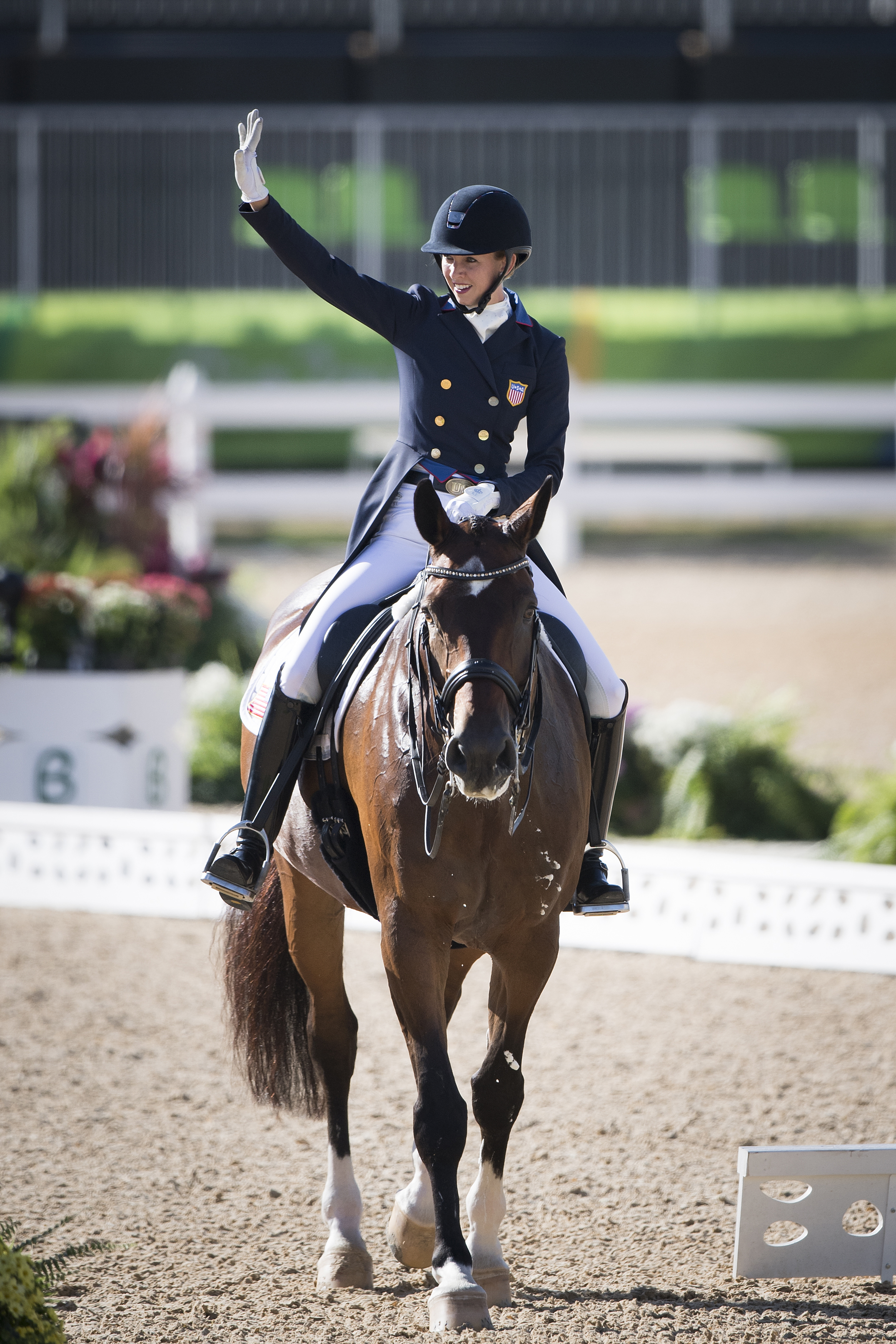 DAY 5 OLYMPIC GAMES RIO Dressage Individual . Grand Prix. USA GRAVES LAURA