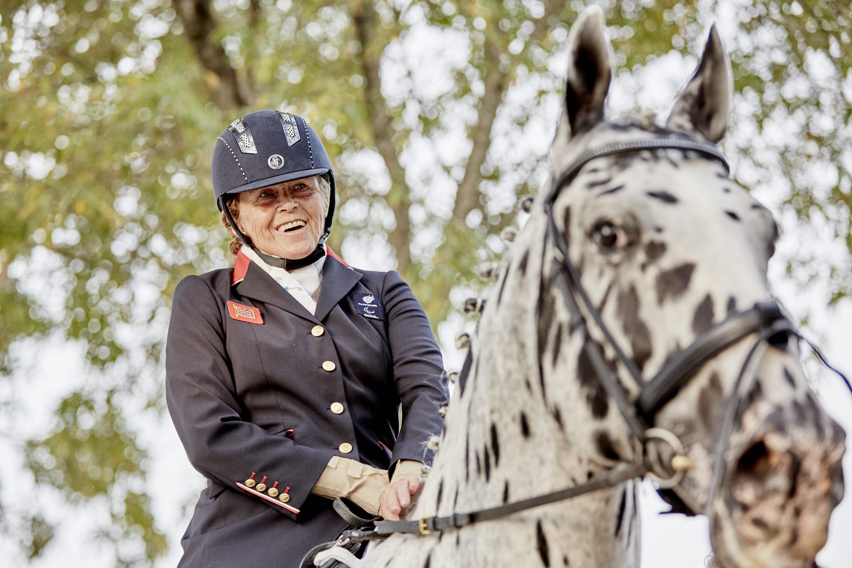 Silver Medalist Anne Dunham (GBR). Fot. Liz Gregg/FEI.
