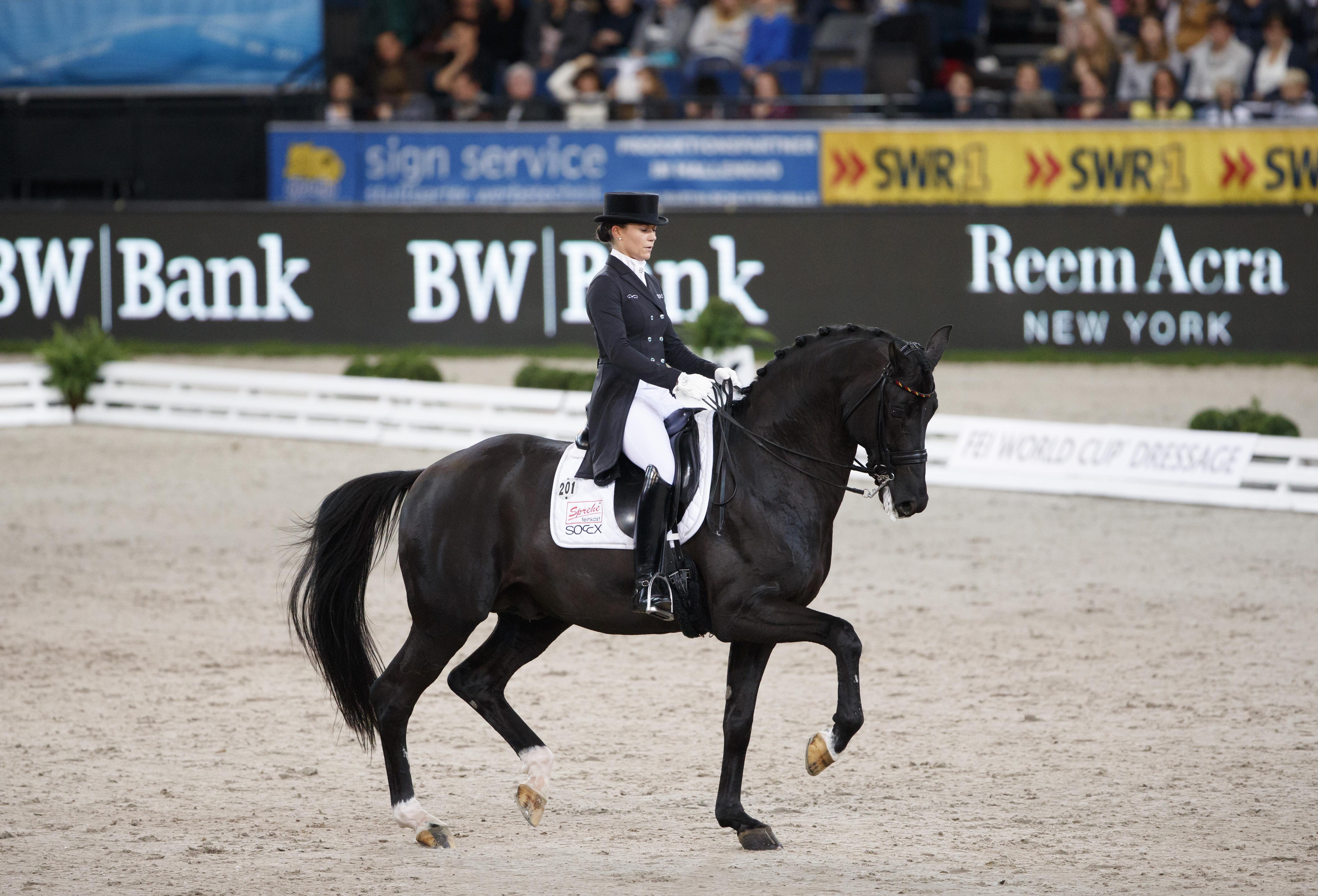 Stuttgart - German Masters 2016 - Kristina Sprehe (GER) & Desperados. Fot. Stefan Lafrentz/FEI.